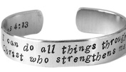 Cuff Bracelet - Philippians 4:13 - I Can Do All Things Through Christ Who Str...