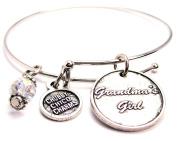 Grandma's Girl Circle Expandable Bangle Bracelet, Fits 19cm wrist, Chubby Chico Charms Exclusive