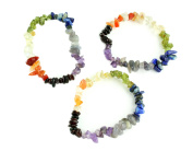 For the Body, Mind, and Spirit Chakra Natural Stone Stretch Bracelet, Set of 3