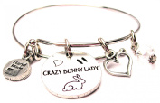 Crazy Bunny Lady Expandable Bangle Bracelet, Fits 19cm wrist, Chubby Chico Charms Exclusive