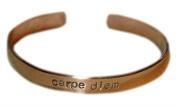 Carpe Diem Copper Bracelet - 0.6cm Adjustable