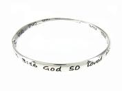 John 3:16 Twisted Bangle Bracelet For God So Loved Christian Religiou...
