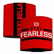 Nikki Bella Stay Fearless Badge Red Black White Elastic Wrist Cuff 7.6cm Wide