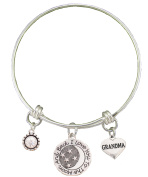 Grandma Love You To The Moon Silver Wire Adjustable Bracelet Jewellery