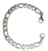 Hidden Hollow Beads 18cm Stainless Steel STRONG Men's, Women's, Unisex Medical Alert ID Interchangeable Replacement Bracelet