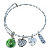 August Birthstone Bracelet,Birthstone Jewellery,August Birthstone Jewellery,Birthstone Bangle Bracelet, PerfectBirthday Gifts For Women