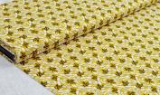 """Fabric """"FLORAL 1 métre Elm Yellow 100 x 150 cm 100% Cotton"""