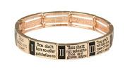 Ten Commandments 10 Stretch Bracelet Christian Scripture Religious Ro...