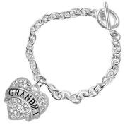"The Perfect Gift ""Grandma"" Hypoallergenic Bracelet ©2015 , Safe-Nickel Free"