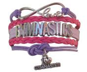 Gymnastics Bracelet- Girls Gymnastics Infinity Bracelet- Gymnastics Jewellery - Perfect Gift For Gymnast, Gymnastic Coaches & Gymnastics Teams