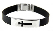 Cross Bracelet Jesus Christian Religious Silicone Latch