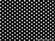 Cotton Fabric with Dots / 0.8 CM, Black, 135 CM