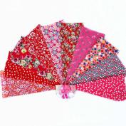 RainBabe Floral Sewing Scrapbooking Cotton Fabric Quarter Bundle Patchwork Quilting Fabric 10Pcs