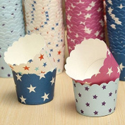 Bazaar 50Pcs Star Pattern Cupcake Paper Muffin Cup High Temperature Baking Cup
