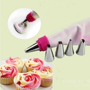Bazaar 5Pcs Stainless Steel Nozzles Dual Colour Lcing Piping Bag Cake Tool Cake Decoration Converter