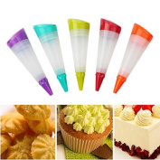 Bazaar 1Pc With 3 Nozzles Decorating Gun Silicone Icing Piping Bottle Cake Decorating Tool