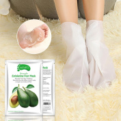 Hunpta Avocado Hot Remove Dead Skin Foot Mask Peeling Cuticles Heel Feet Care Anti Ageing