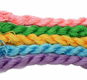 Chinese Knotting Beading Cord Mixed Approx 1.5mm 5 (12 Yard Skeins) for Crafts and Knotted Jewellery Like Shamballa Bracelets