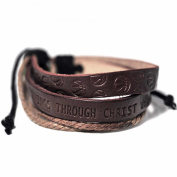 Bracelet-Basketball-I Can Do All Things-Leather