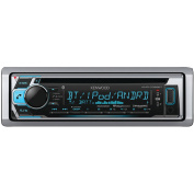 Kenwood KMR-D368BT Single-DIN In-Dash Marine CD Receiver with Bluetooth and SiriusXM Ready