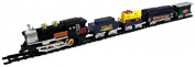 Tram Express Battery Operated Toy Train Set w/ 5 Train Cars, Train Station