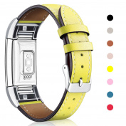 For Fitbit Charge 2 Band Leather Strap, Mornex Classic Adjustable Replacement Wristband for Fitbit Charge 2 Fitness Accessories With Metal Connectors
