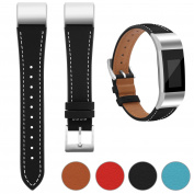 For Fitbit Charge 2 Strap Leather Band, Adjustable Replacement Sport Straps for Fitbit Charge 2 Fitness Wristband