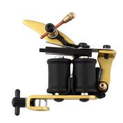 NEW Liner/Shader Professional Tattoo Machine Gun Coils Kit Stainless Golden ~~