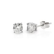 .925 Sterling Silver 5mm Round Cut Cubic Zirconia Stud Earrings
