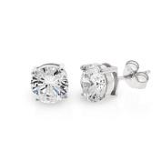 .925 Sterling Silver 7mm Round Cut Cubic Zirconia Stud Earrings
