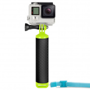 Floating Hand Grip, EREACH Waterproof Floating handle Tripod Stick with Thumb Screw and Adjustable Wrist Mount Accessories for Gopro Camera Hero 6/5/ 4/3/2/1, Sessions, Black, Silver etc.
