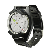 High Powered Tactical WRIST COMPASS with Black Watch Strap