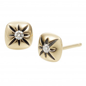 Diamond Cushion Stud Earrings in 14K Gold