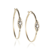 Diamond Hoop Earrings in 14K Yellow Gold