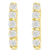 14k Yellow Gold 0.5ct TDW Round Diamond Earrings