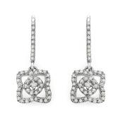 Olivia Leone Sterling Silver 3/5ct TDW White Diamond Earrings