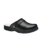 Alexandra Toffeln STC-FW537BK-5 Ultra Lite Clog, Leather, Plain, Size
