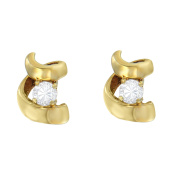 Espira 0.1 CTTW Round-cut Diamond Stud Earrings