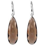 Orchid Jewellery Mfg Inc Orchid Jewellery .925 Sterling Silver 33ct. Genuine Smoky Quartz Gemstone Dangle Earrings