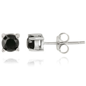 DB Designs Sterling Silver 1/2ct TDW Black Diamond Stud Earrings