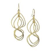 Jayden Star Isla Simone - 18 Karat Gold Electroplated Textured Swirl Earring