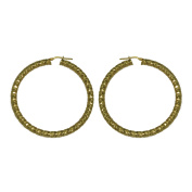 Jayden Star Isla Simone - 18 Karat Gold Electro Plated 4.5Mm X 60MM Round Faceted Hoop Earring