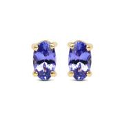 Malaika 14k Yellow Gold 1/2ct TGW Tanzanite Earrings