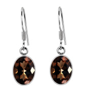 Orchid Jewellery Mfg Inc Orchid Jewellery 925 Sterling Silver 6.85ct TGW Genuine Smoky Quartz Earring