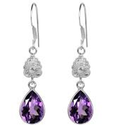Orchid Jewellery Mfg Inc Orchid Jewellery 925 Sterling Silver 5.30ct TGW Genuine Amethyst Earring