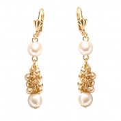 Peermont Jewellery Gold Plated & Faux Pearl Dangling Earrings