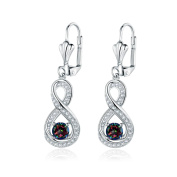 Peermont Jewellery Gold Plated Diamond Accent & Mystic Topaz Infinity Drop Earrings