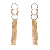Peermont Jewellery Gold Plated and Elements Dangling Earrings