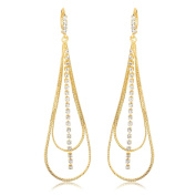 Peermont Jewellery Gold Plated and Cubic Zirconia Dangle Earrings