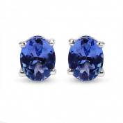 Olivia Leone Sterling Silver 1/2ct Tanzanite Earrings